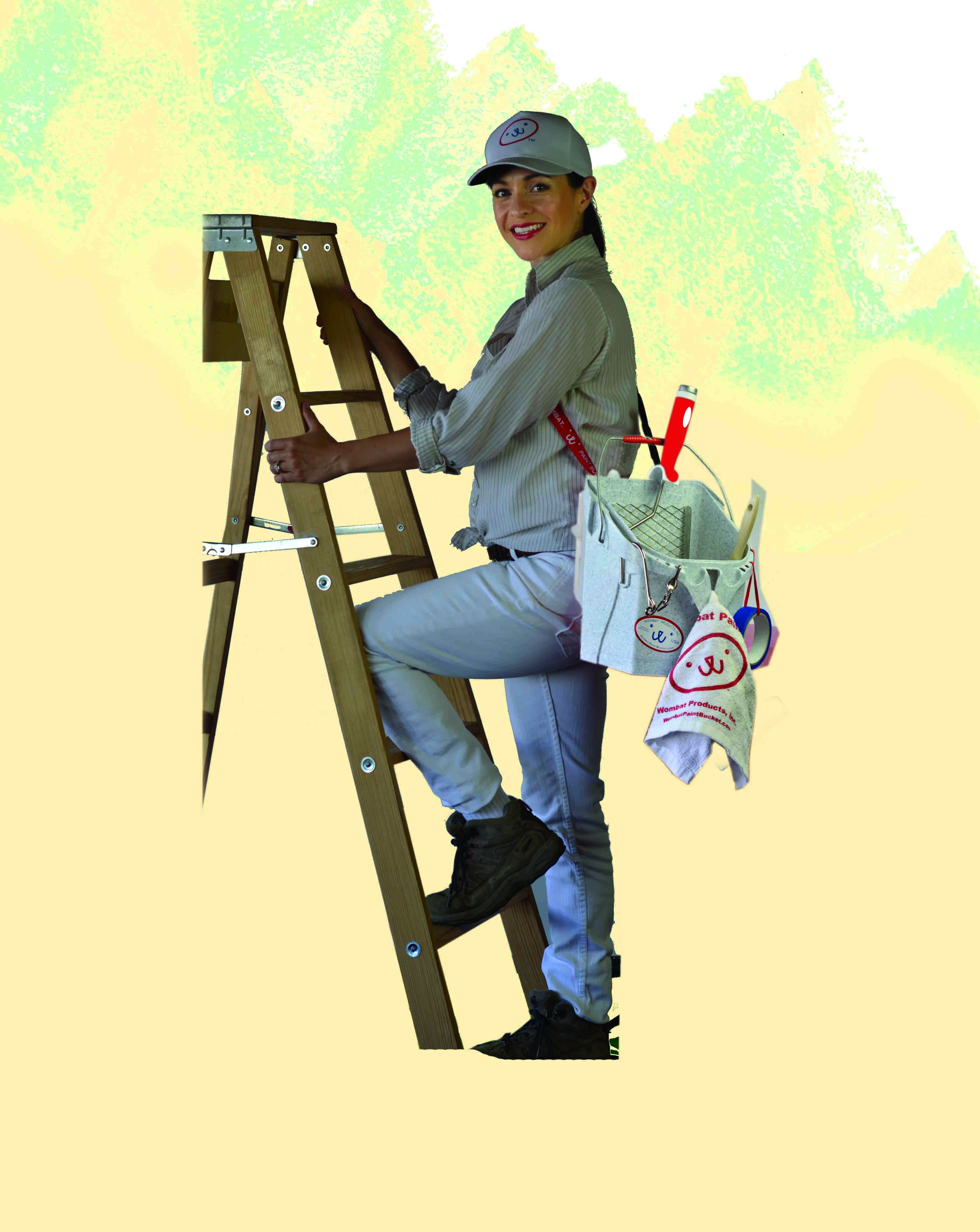 Climb ladder safely using both hands
